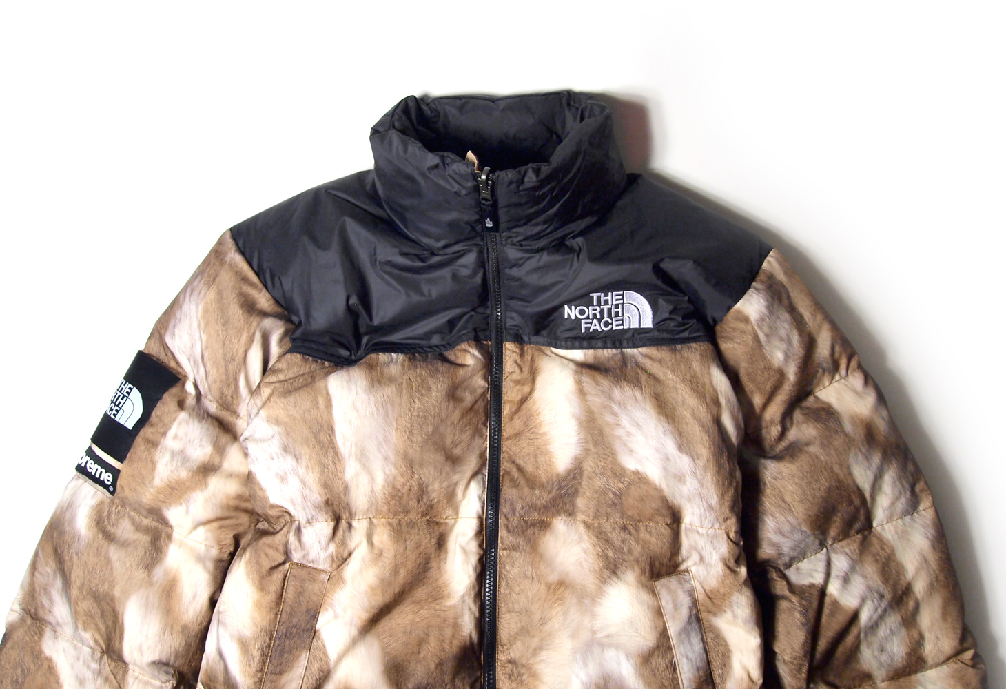 The North Face Supreme - Fur Print Nuptse Jacket - ParkSIDER  b1ca0e2a7